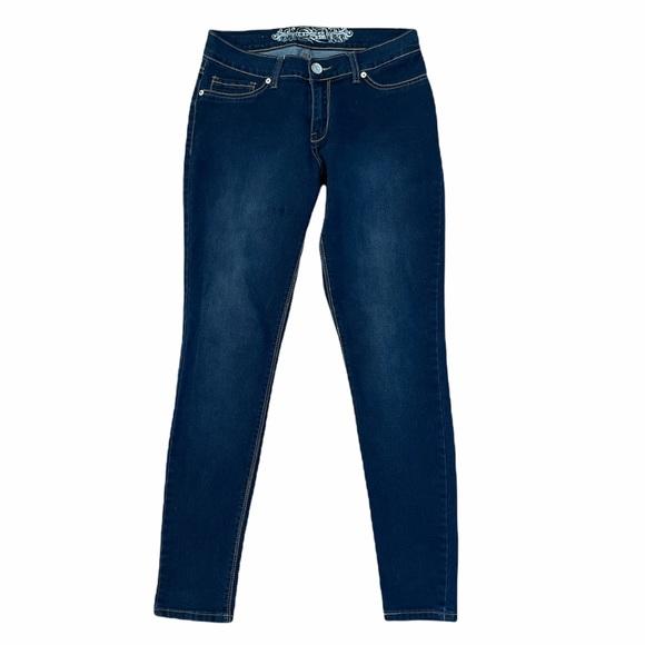 Express | dark was skinny jeans Sz 10